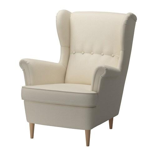 STRANDMON Ohrensessel , Isefall natur Sitzbreite: 49 cm Sitzhöhe: 45 cm Höhe: 101 cm / 101 cm Breite: 82 cm / 82 cm