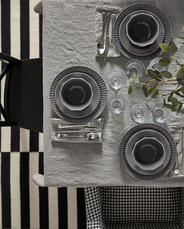 STRIMMIG Schüssel, Steingut grau, 11 cm