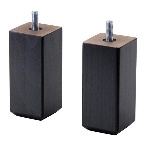 Ikea Besta Füße stubbarp bein schwarzbraun ikea