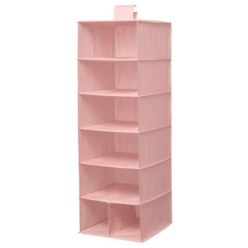 STUK Aufbewahrung mit 7 Fächern rosa 30 cm 30 cm 90 cm