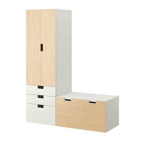 stuva aufbewahrung mit bank wei birke ikea. Black Bedroom Furniture Sets. Home Design Ideas