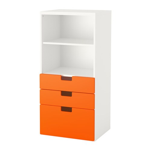 stuva aufbewahrung mit schubladen wei orange ikea. Black Bedroom Furniture Sets. Home Design Ideas