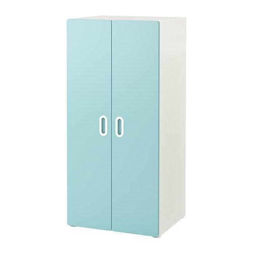 STUVA / FRITIDS Kleiderschrank - weiß/hellblau - IKEA