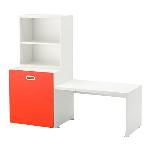 stuva fritids tisch f r spielzeug wei rot ikea. Black Bedroom Furniture Sets. Home Design Ideas