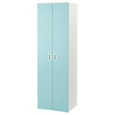 STUVA / FRITIDS Kleiderschrank weiß/hellblau 60 cm 50 cm 192 cm