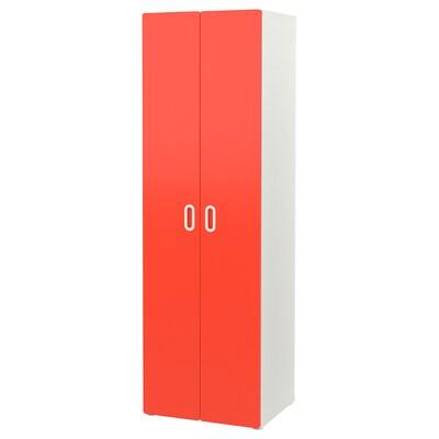STUVA / FRITIDS Kleiderschrank weiß/rot 60 cm 50 cm 192 cm