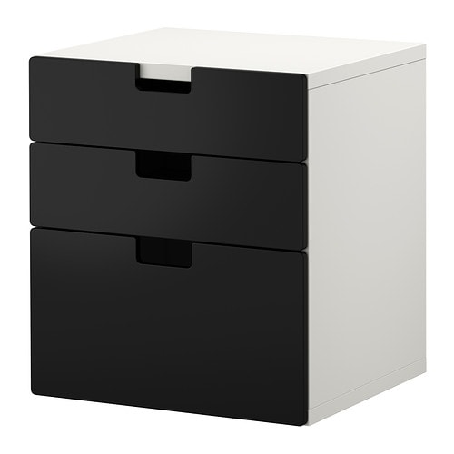 stuva kommode mit 3 schubladen schwarz ikea. Black Bedroom Furniture Sets. Home Design Ideas