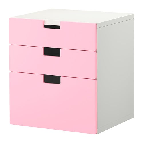 stuva kommode mit 3 schubladen rosa ikea. Black Bedroom Furniture Sets. Home Design Ideas