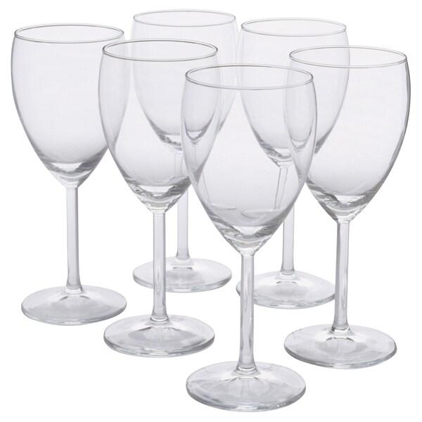 SVALKA Weißweinglas Klarglas 18 cm 25 cl 6 Stück