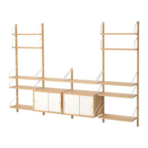 SVALNS Aufbewahrungskomb Wandmont IKEA Diese Gerumige Kombination Hat Viel Platz Zum Aufbewahren So