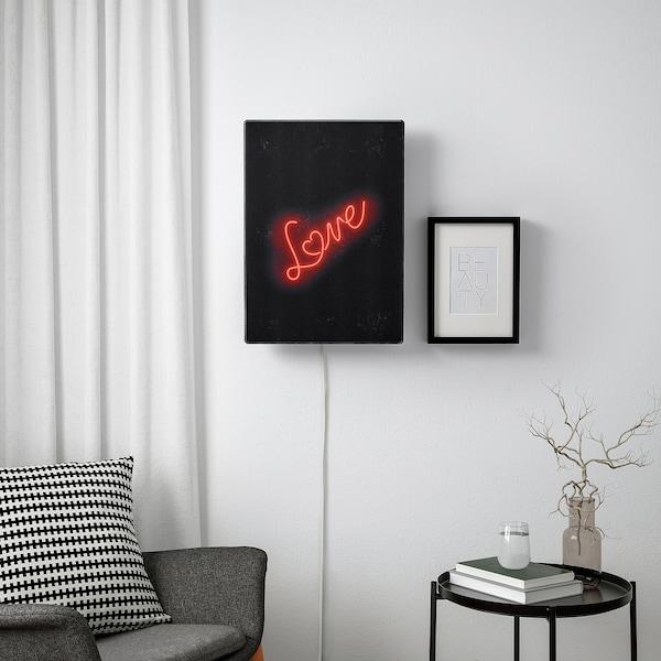 SYMFONISK Paneel für Rahmen mit Speaker, Liebe im Neonlicht
