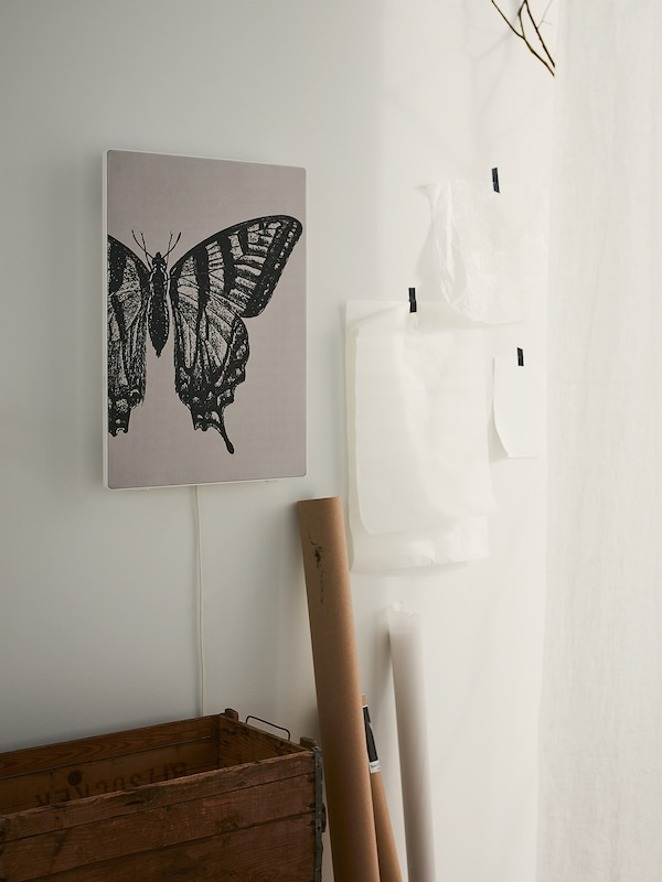 SYMFONISK Paneel für Rahmen mit Speaker, Wald – Schmetterling