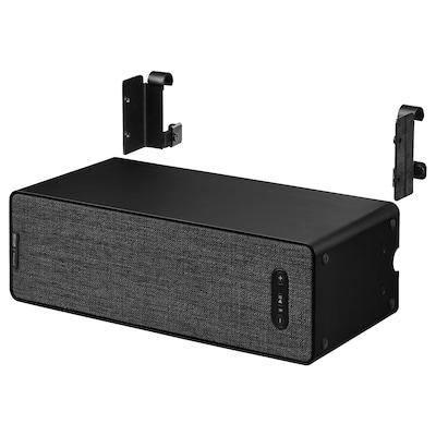 SYMFONISK / SYMFONISK Regal-Speaker mit Haken, schwarz, 31x10x15 cm