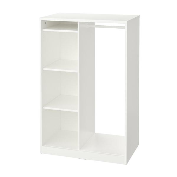 SYVDE Kleiderschrank, offen, weiß, 80x123 cm