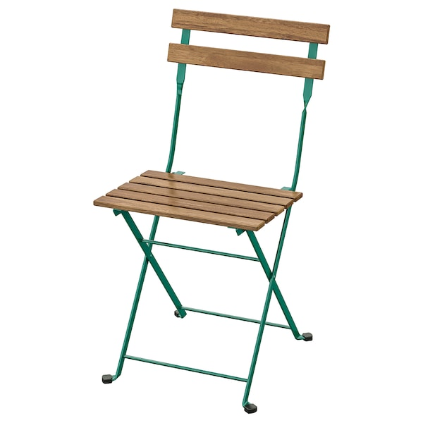 TÄRNÖ Stuhl/außen, faltbar/dunkelgrün hellbraun lasiert