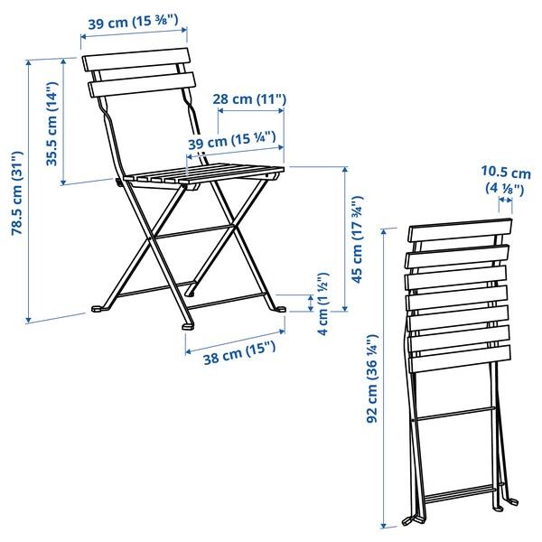 TÄRNÖ Stuhl/außen, faltbar/weiß hellbraun lasiert