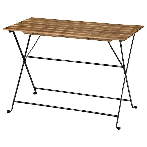 TÄRNÖ Tisch/außen, schwarz/hellbraun lasiert, 100x54 cm