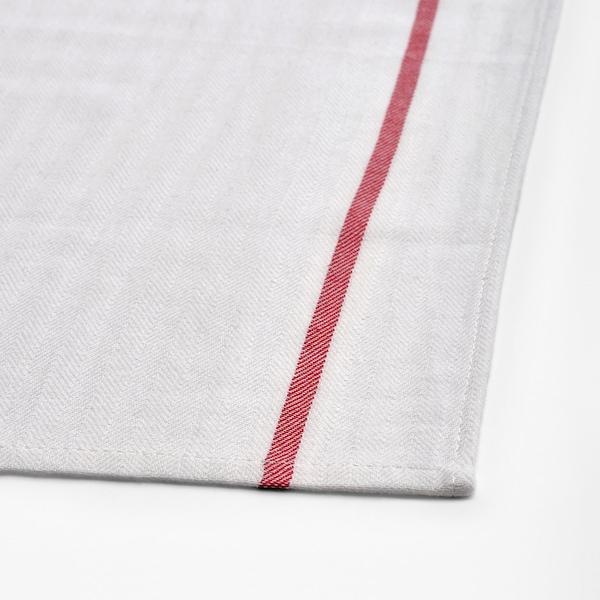 TEKLA Geschirrtuch, weiß/rot, 50x65 cm