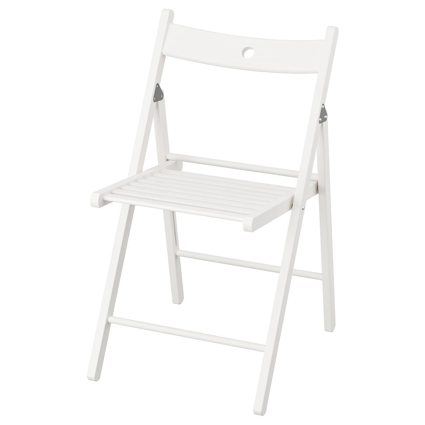 Ikea Terje Klappstuhl in weiß; aus Massivholz