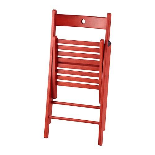 Terje Rojo De Maciza Ikea Detalles Cocina Madera Diseño Plegable Nuevo Silla XkZON8n0wP