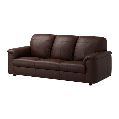 timsfors 3er sofa mjuk kimstad dunkelbraun ikea. Black Bedroom Furniture Sets. Home Design Ideas