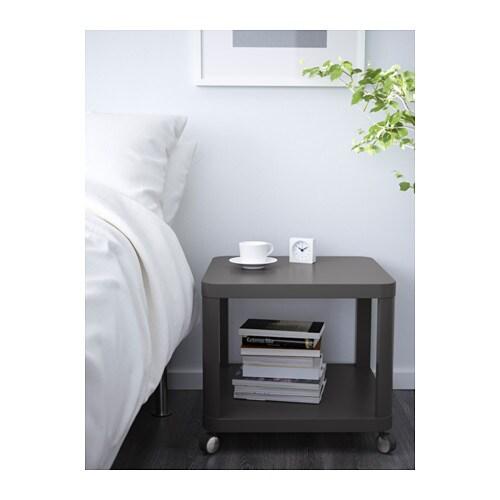 Beistelltisch ikea grau  TINGBY Beistelltisch mit Rollen - grau - IKEA