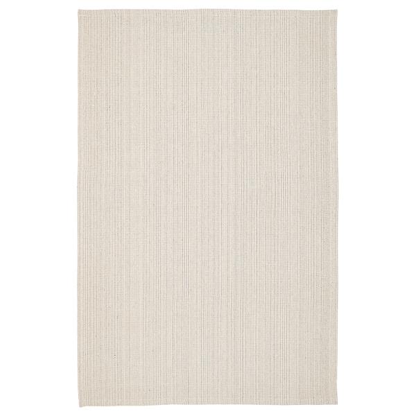 Boho Schlafzimmer TIPHEDE Teppich flach gewebt, natur/elfenbeinweiß 120x180 cm