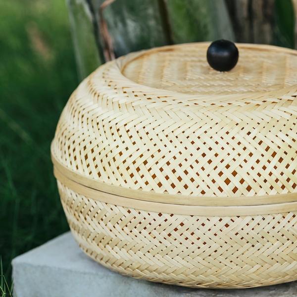 TJILLEVIPS Korb, Bambus, 32 cm