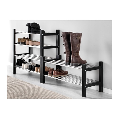 ikea tjusig schuhaufbewahrung schwarz schuhregal flurregal handtuchablage neu traumfabrik xxl. Black Bedroom Furniture Sets. Home Design Ideas