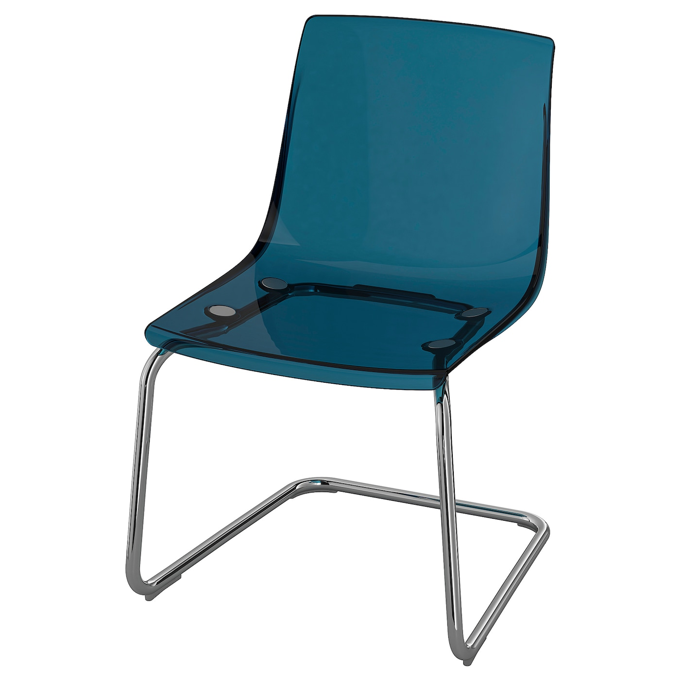 IKEA TOBIAS Stuhl transparent; verchromt