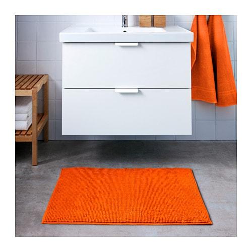 ikea toftbo badematte orange matte vorleger 60x90 cm extra weich microfaser neu ebay. Black Bedroom Furniture Sets. Home Design Ideas