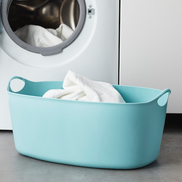 TORKIS Wäschekorb flexibel, blau, 35 l