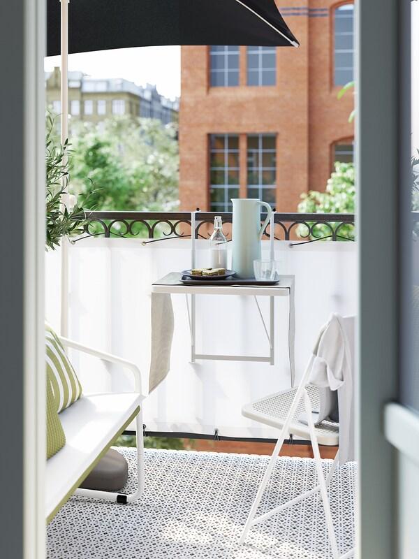 TORPARÖ Balkontisch, weiß, 50 cm