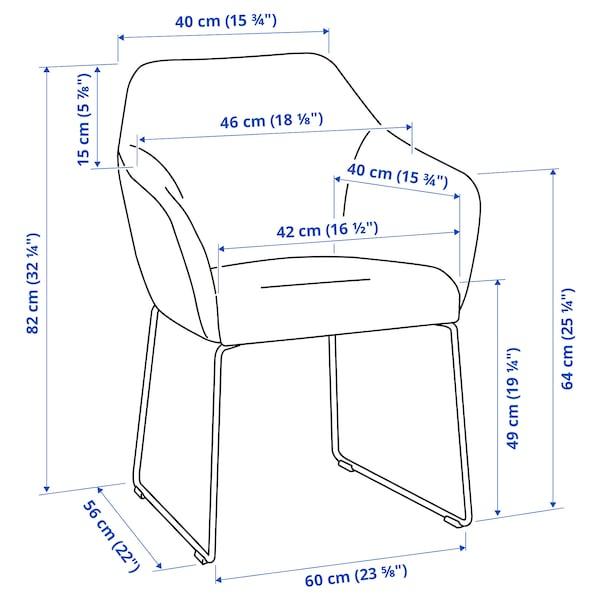 TOSSBERG Stuhl, Metall schwarz/grau