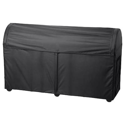 TOSTERÖ Auflagenbox/außen, schwarz, 129x44x79 cm
