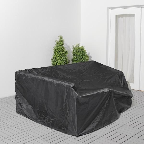 TOSTERÖ Gartenmöbel-Abdeckung, Sofa/schwarz, 260x165 cm