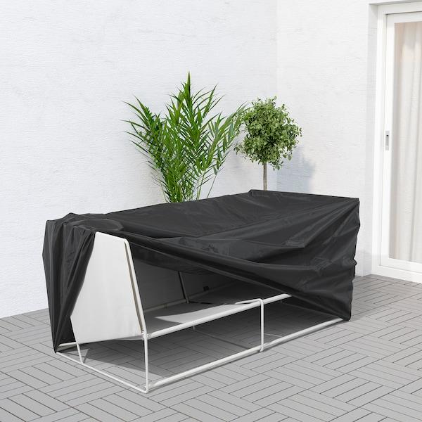 TOSTERÖ Gartenmöbel-Abdeckung, Sofa/schwarz, 170x100 cm