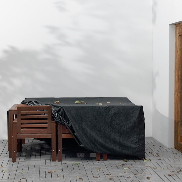 TOSTERÖ Möbelüberzug, Essgruppe/schwarz, 215x135 cm
