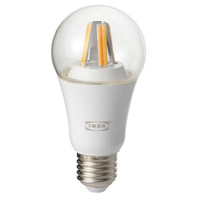 TRÅDFRI LED-Leuchtmittel E27 806 lm, kabellos dimmbar Weißspektrum/rund klar