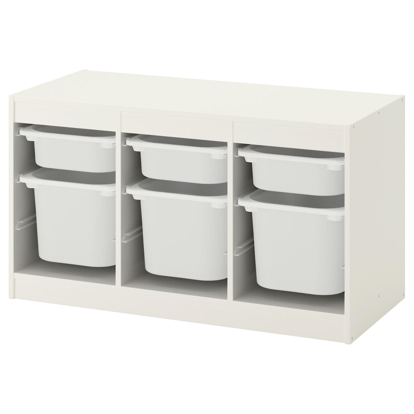 TROFAST Aufbewahrung mit Boxen - weiß/weiß 99x44x56 cm