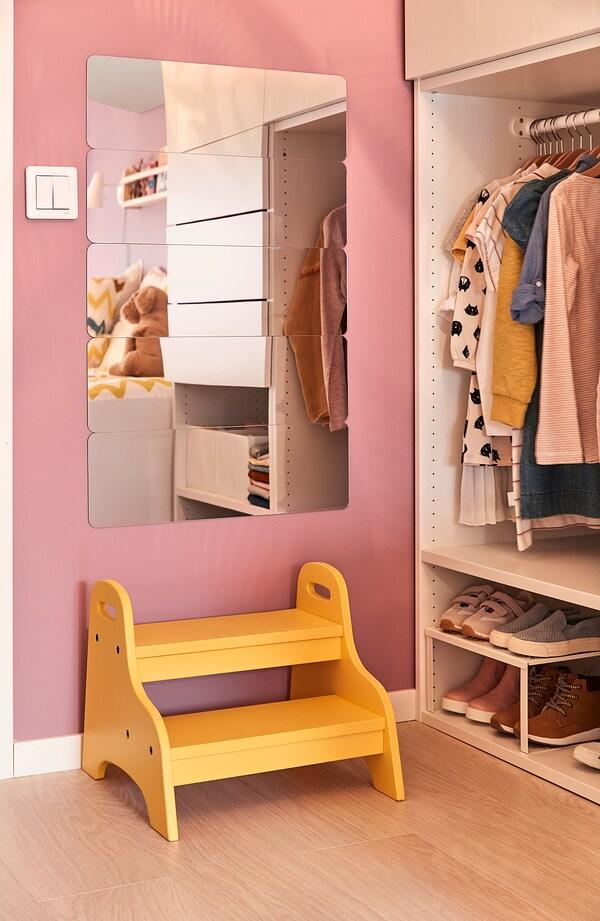 TROGEN Tritthocker für Kinder, gelb, 40x38x33 cm