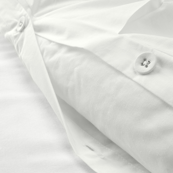 TRUBBTÅG Bettwäscheset, 2-teilig, weiß, 140x200/80x80 cm