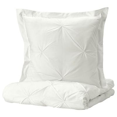 TRUBBTÅG Bettwäscheset, 3-teilig, weiß, 240x220/80x80 cm
