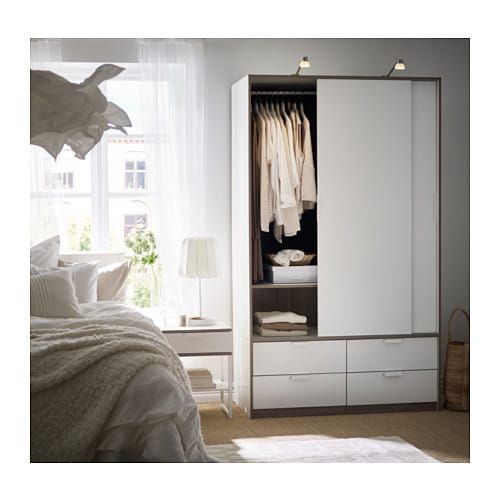 TRYSIL Kleidschr. m. Schiebetü./4 Schubl. - IKEA