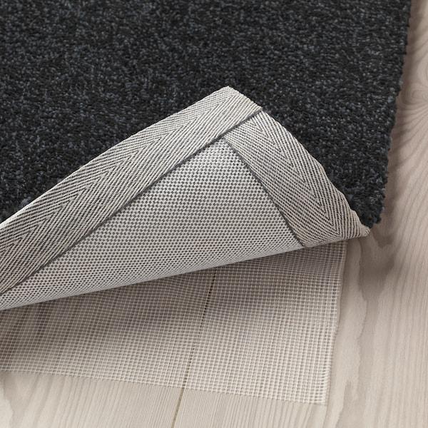 TYVELSE Teppich Kurzflor, dunkelgrau, 170x240 cm