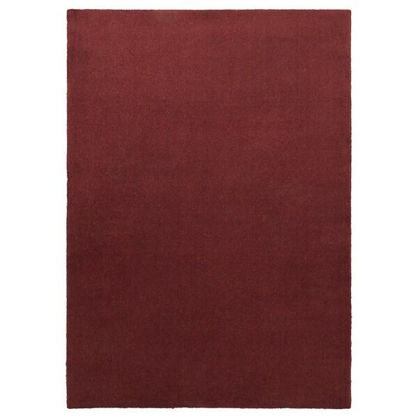 TYVELSE Teppich Kurzflor, dunkelrot, 170x240 cm