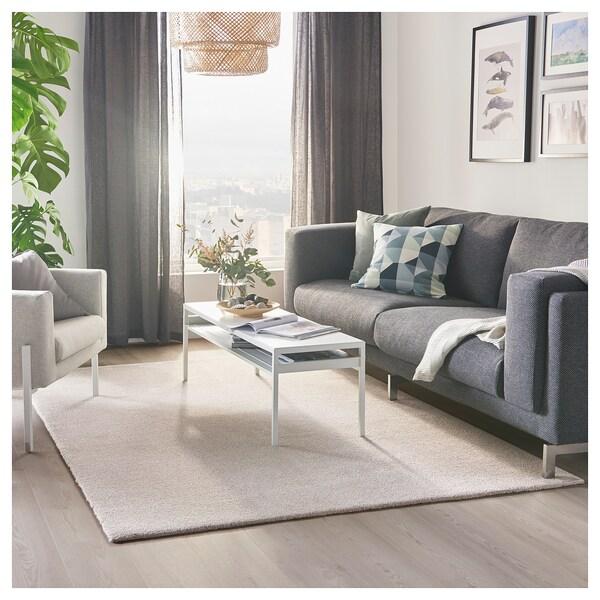 TYVELSE Teppich Kurzflor, elfenbeinweiß, 170x240 cm