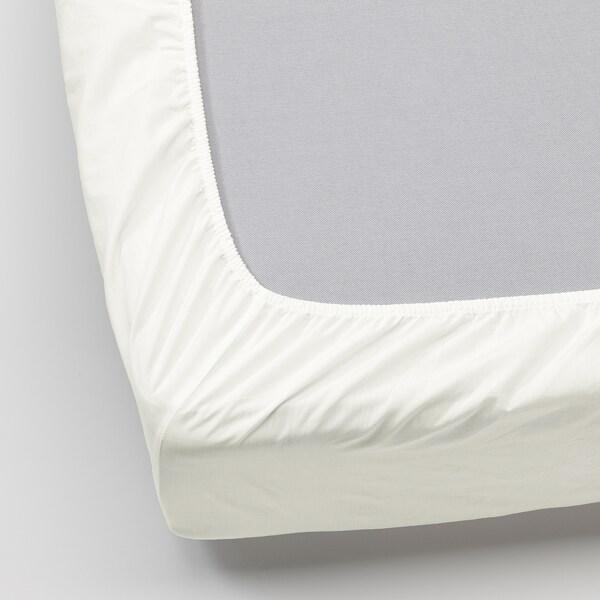 ULLVIDE Spannbettlaken, weiß, 160x200 cm
