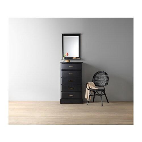 Kommode schwarz ikea  UNDREDAL Kommode mit 5 Schubladen - IKEA