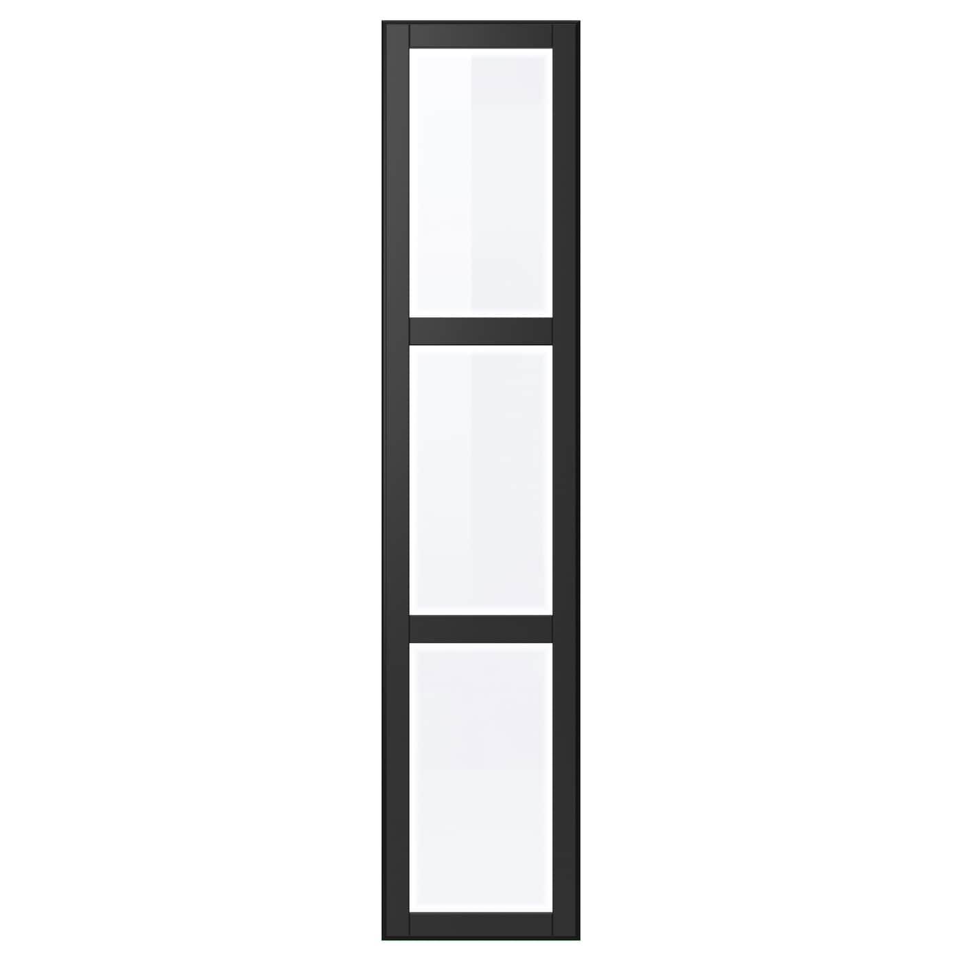 UNDREDAL, Tür, schwarz 803.292.01